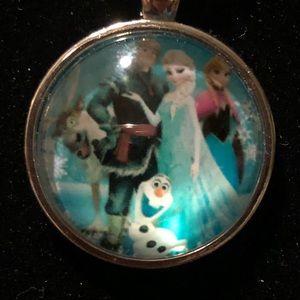 🌸3/$12🌸 Elsa, Anna, Olaf Pendant Necklace